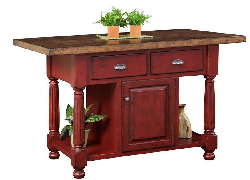 french country farmhouse kitchen island from dutchcrafters amish