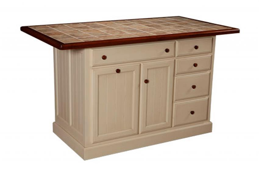 Amish Jefferson City Kitchen Island With Five Drawers - Amish kitchen island