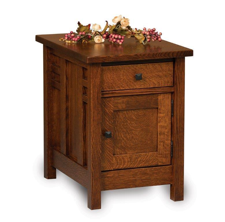 Amish Kascade Closed End Table
