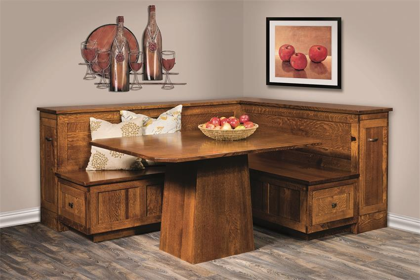 Amish Newport Breakfast Nook Dining Set