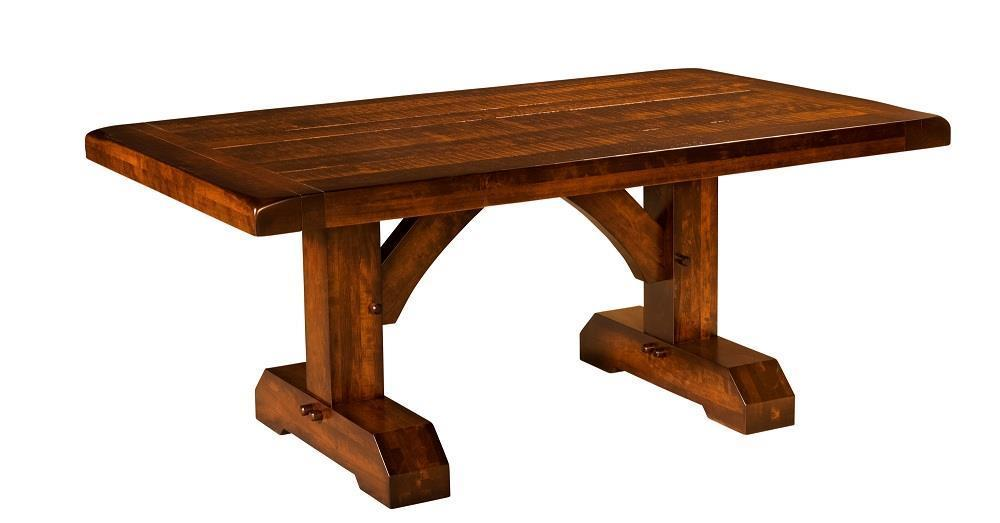 Reagan Trestle Dining Table From DutchCrafters Amish Furniture - Trestle dining room table