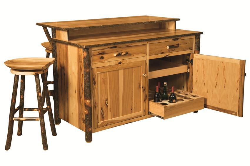 Shop the look - Rustic Hickory Kitchen Island and Stool Set