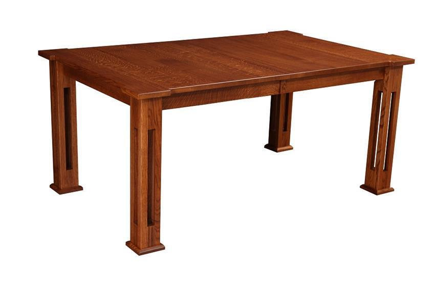 amish santa fe leg dining table