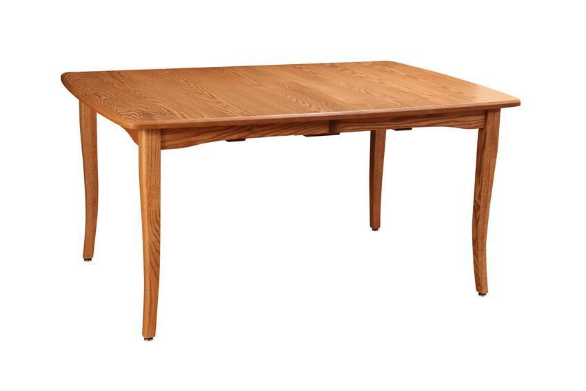 Amish Self Storing Vienna Dining Table With Two Extensions