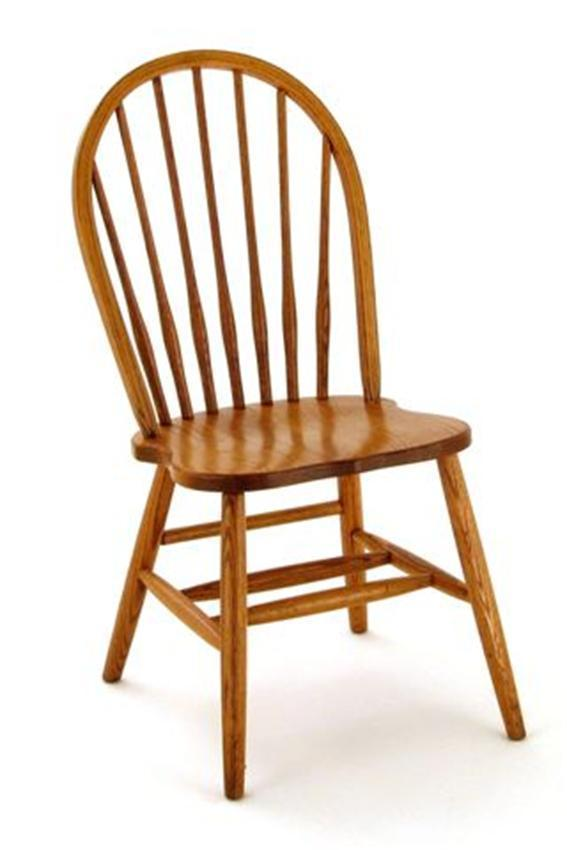 Delightful Amish Spindle Bow Back Windsor Chair