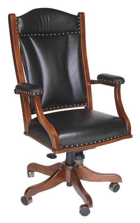 amish made executive office desk chair