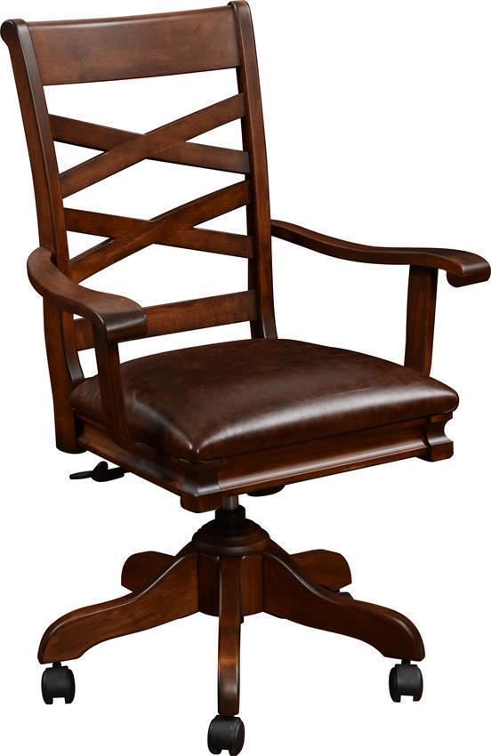 Superb Amish Writing Desk Chair