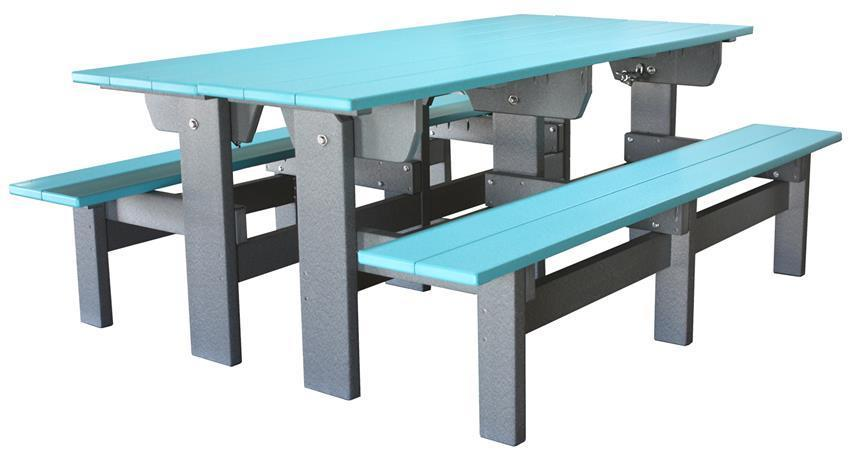 poly park bench and picnic table set