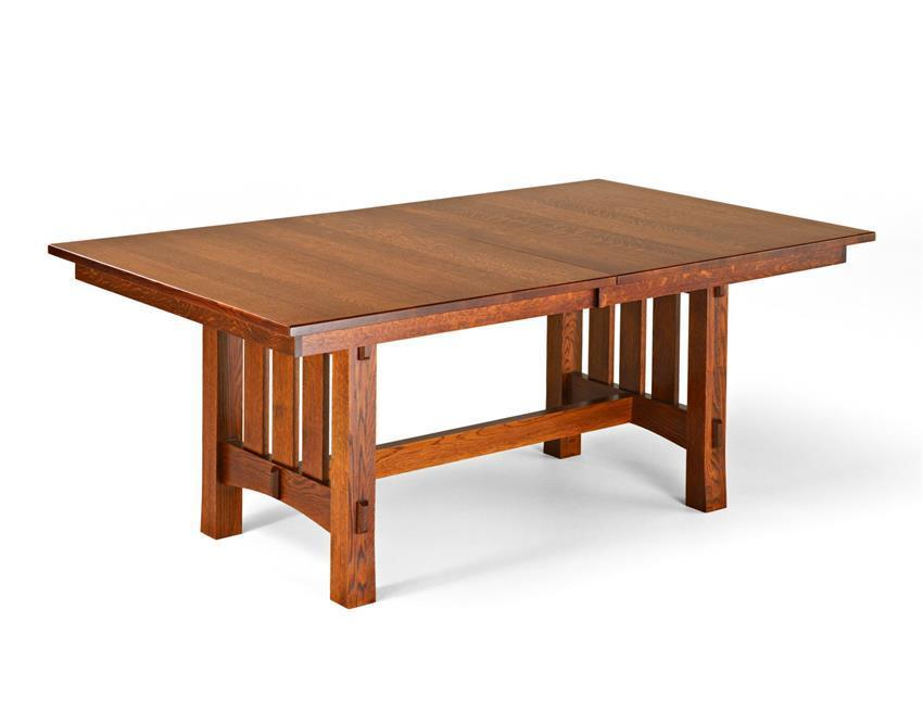 Delightful Aspen Mission Trestle Table