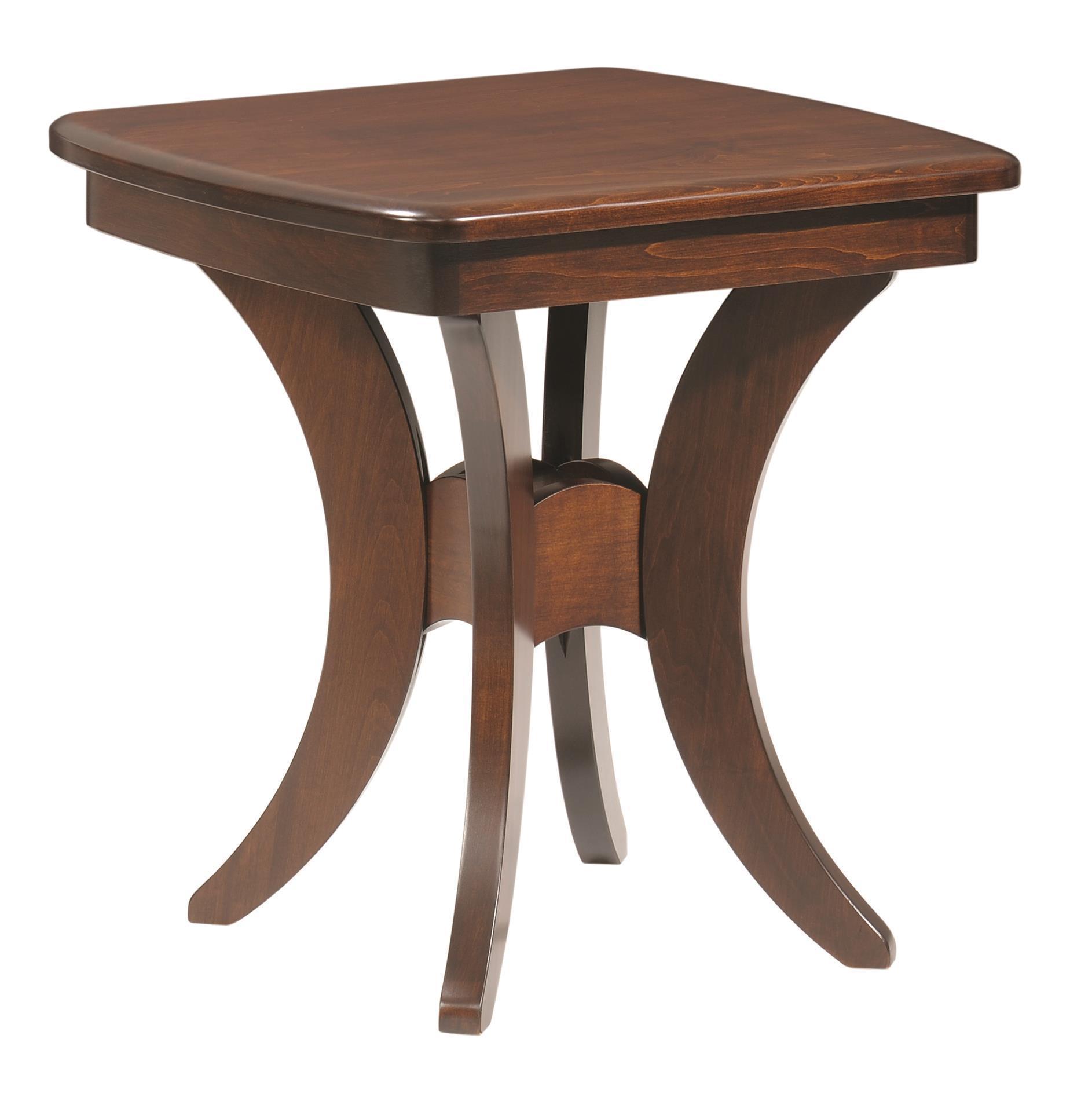 Amish furniture of bristol - Bristol Cross End Table
