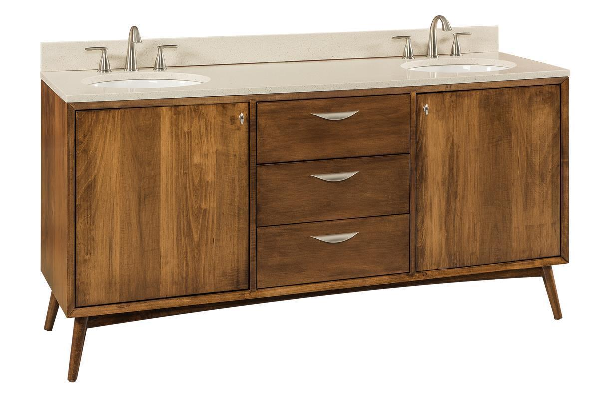Captivating Amish Mid Century Bathroom Vanity