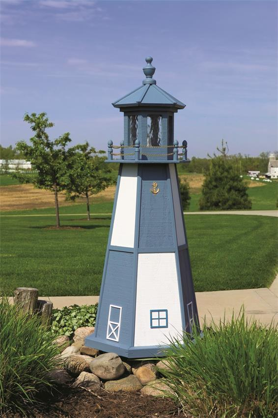 Amish Made Cape Henry Wooden Garden Lighthouse