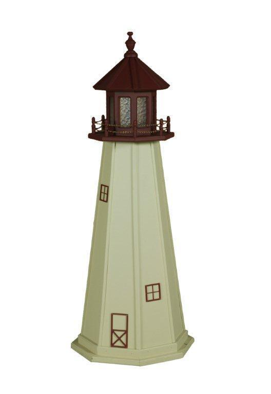 Nice Amish Made Cape May, NJ Wooden Garden Lighthouse