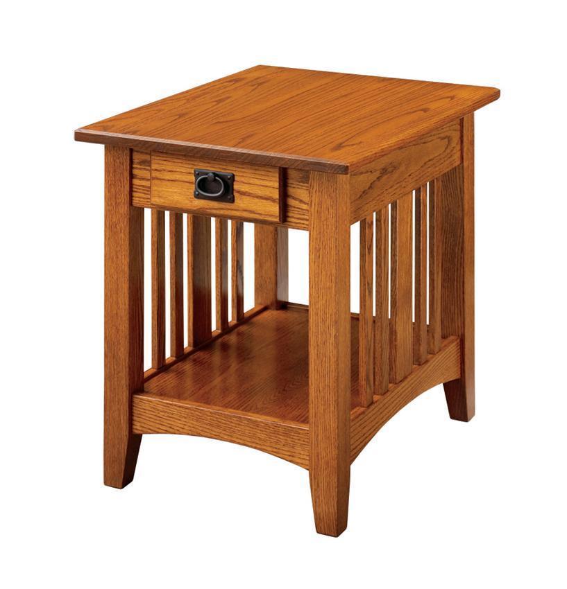 Classic Oak Mission End Table