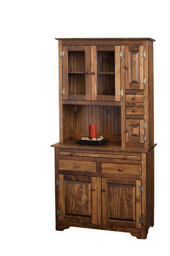 Nice Amish Pine Hoosier Hutch