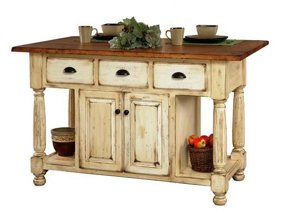 Nice French Country Kitchen Island