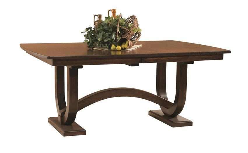 Amish Georgetown Double Trestle Dining Table