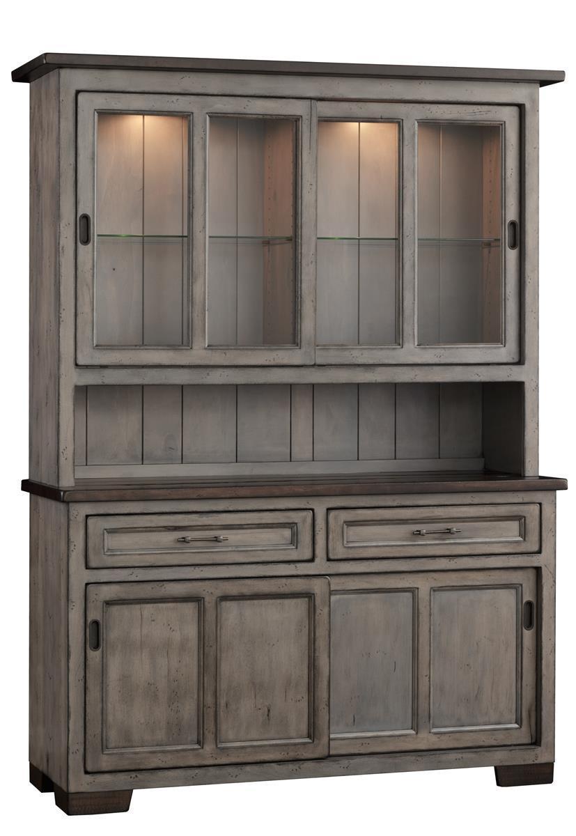 Hudson 2 door hutch with sliding doors from dutchcrafters amish amish hudson 2 door hutch with sliding doors vtopaller Gallery