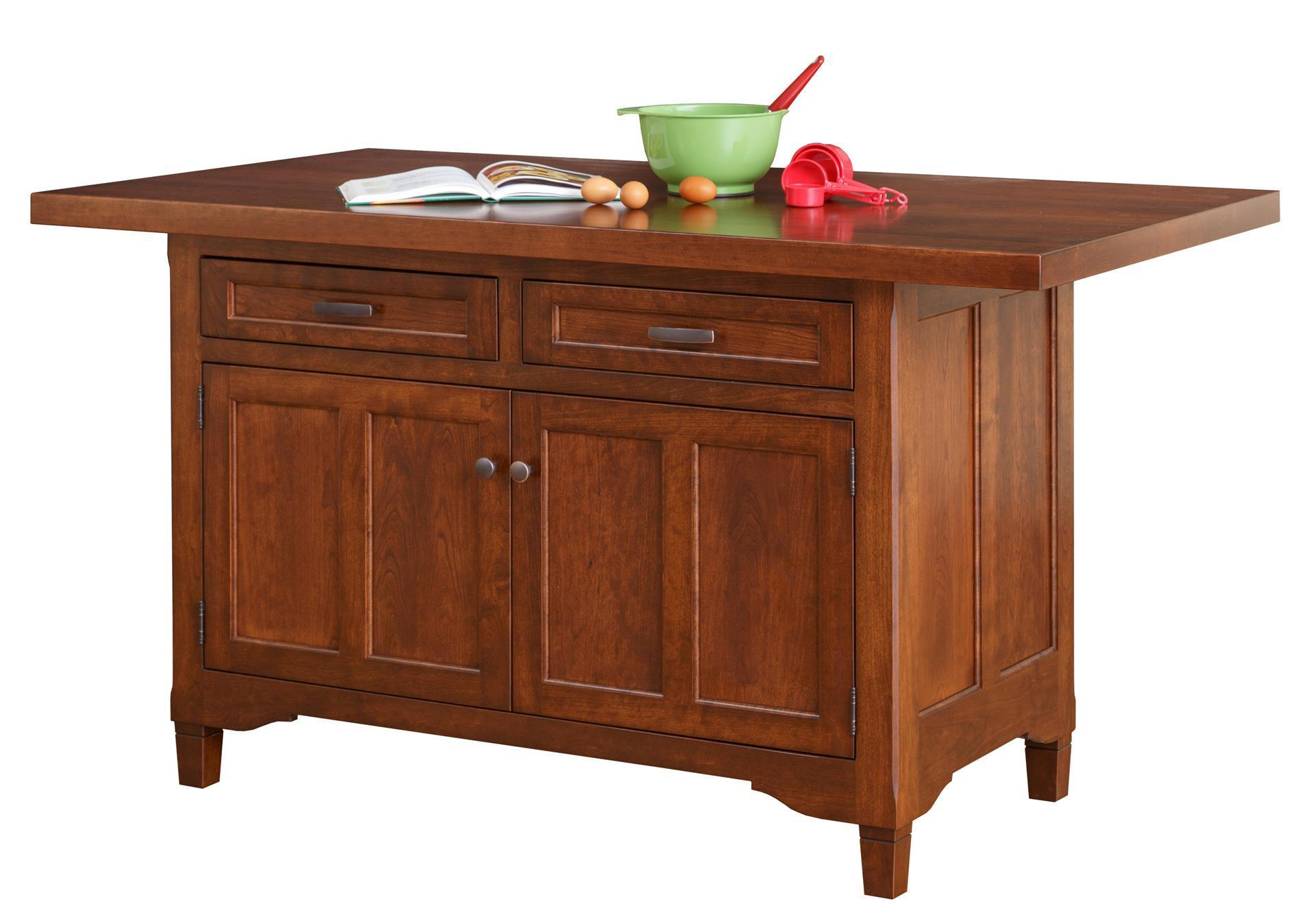 Shop The Look Amish Lexington Solid Wood Kitchen Island Set