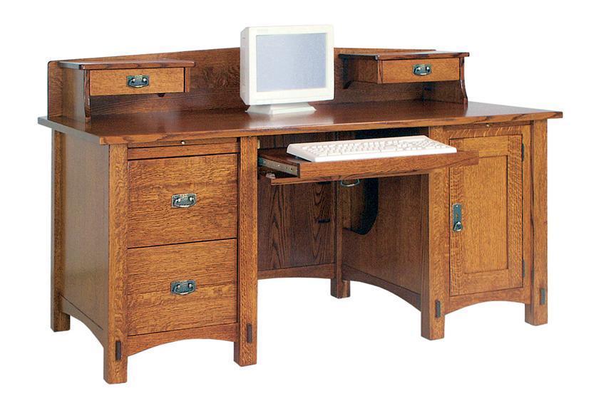 Lucern Mission Computer Desk with Optional Topper
