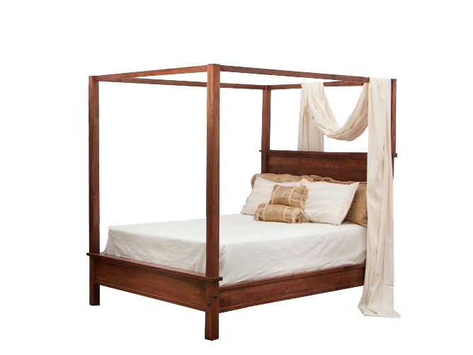 modern shaker furniture. Modern Shaker Canopy Queen Bed In Wormy Maple Furniture A