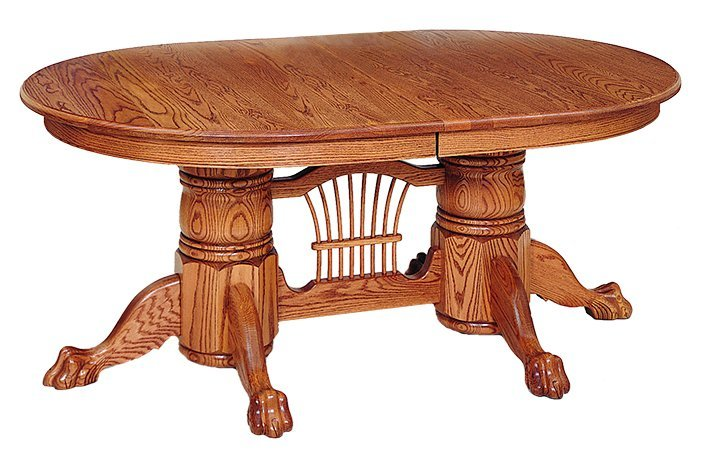 Oak Brookville Double Pedestal Table