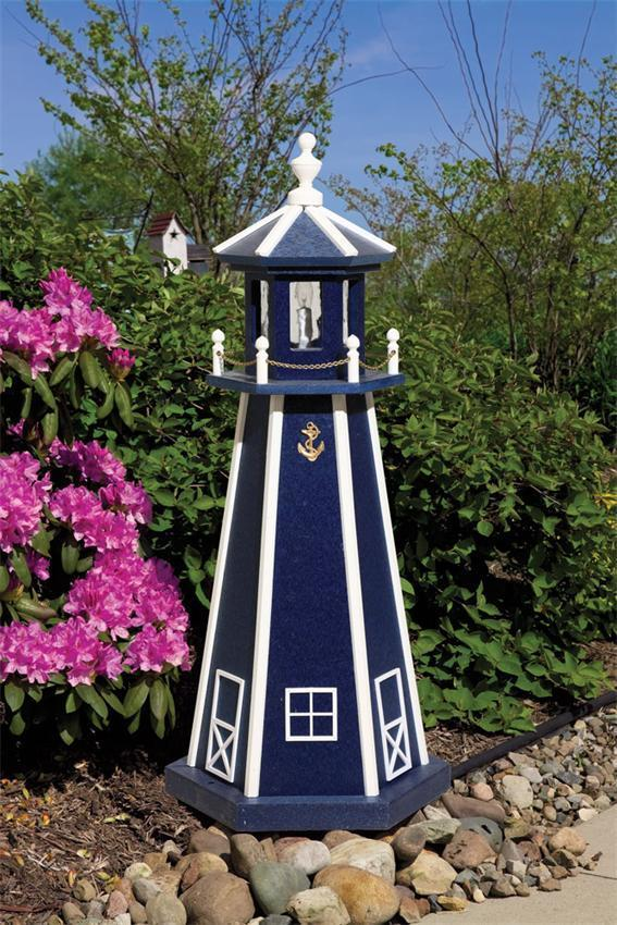 standard poly garden lighthouse by dutchcrafters amish furniture, lighthouse garden decor, lighthouse garden decor canada