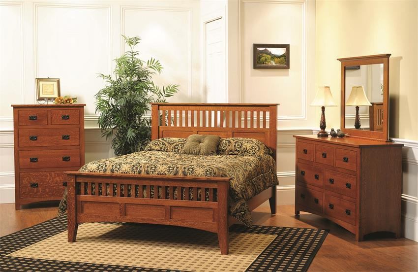 Quarter Sawn Oak Mission Bedroom Suite
