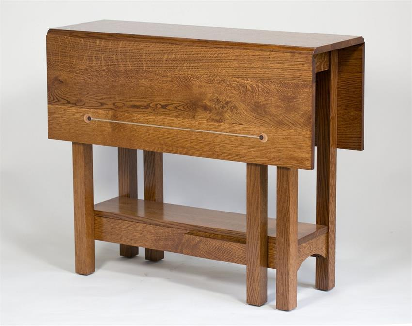 Wonderful Quarter Sawn White Oak Drop Leaf Table