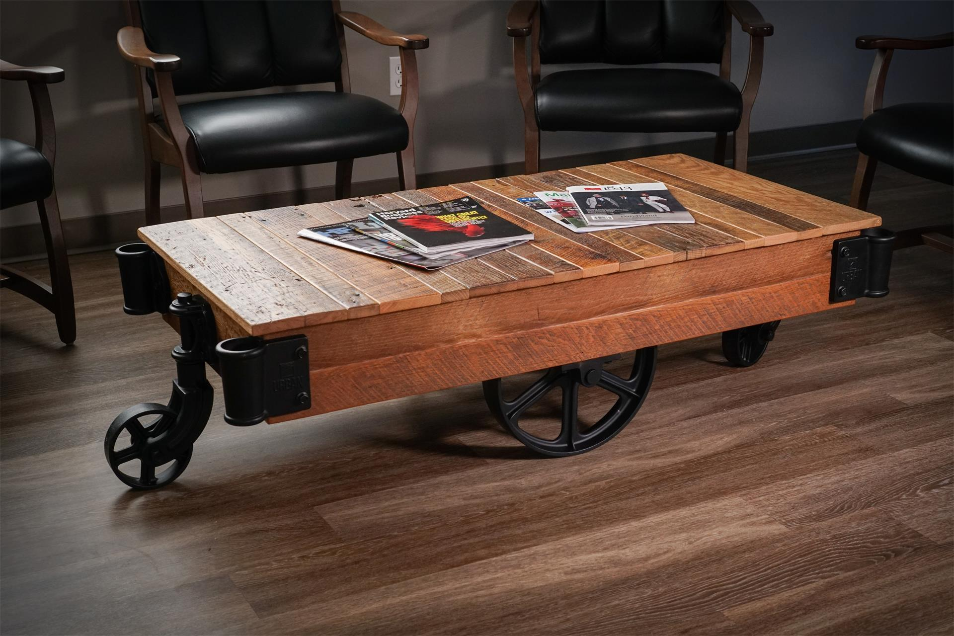Factory Cart Coffee Table from DutchCrafters Amish Furniture