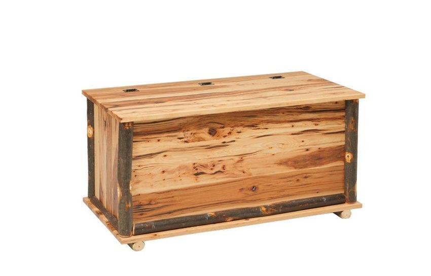 Amish Rustic Cabin Hickory Hope Chest