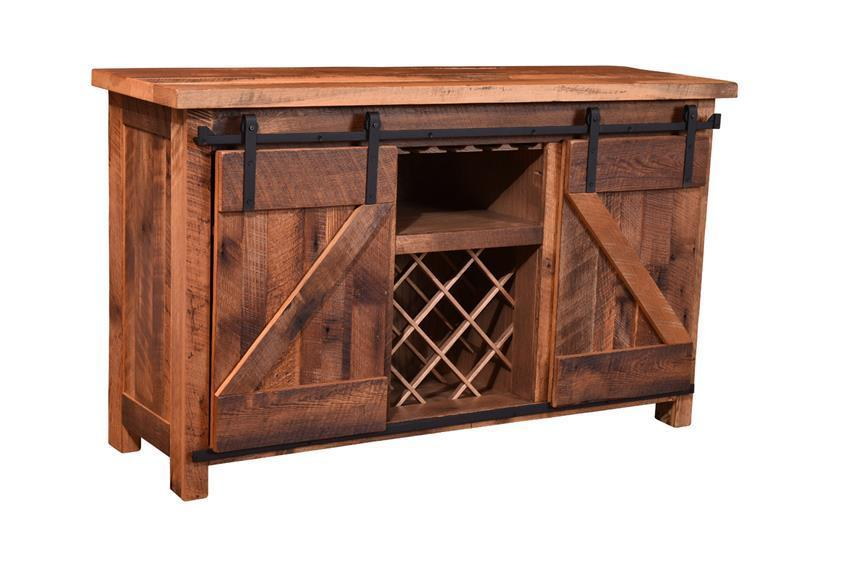 Sliding Barn Door Wine Server