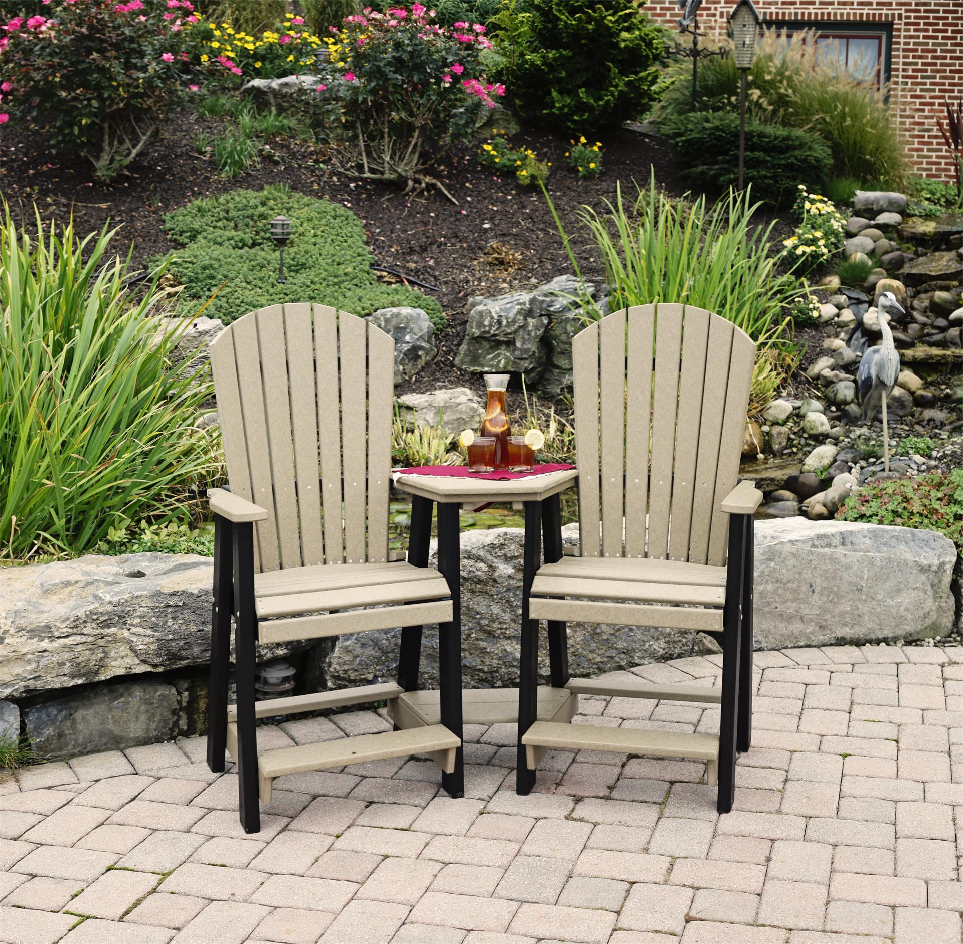Leisure Lawns Poly Balcony Settee from DutchCrafters Amish Furniture