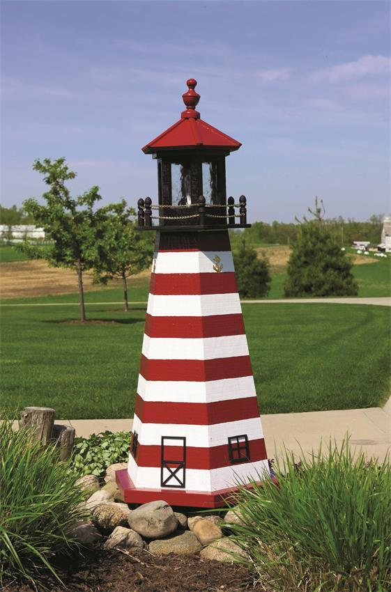West Quoddy Wooden Garden Lighthouse by Dutchcrafters Amish Furniture
