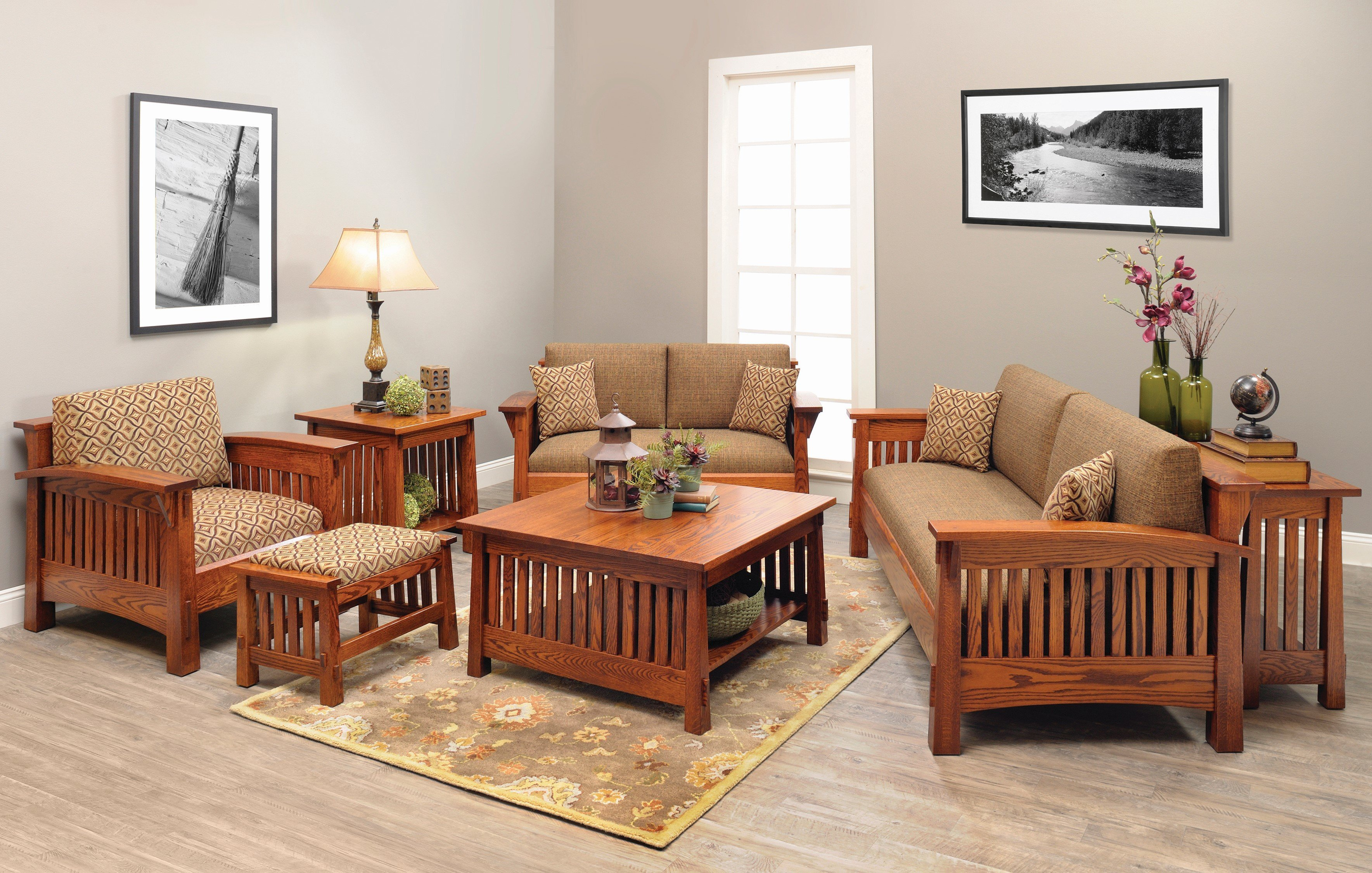 mission living room set shop the look countryside mission living room set 13325