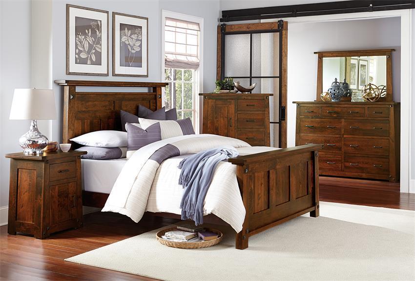 Shop The Look U003e Encada Rustic Cherry Bedroom Suite