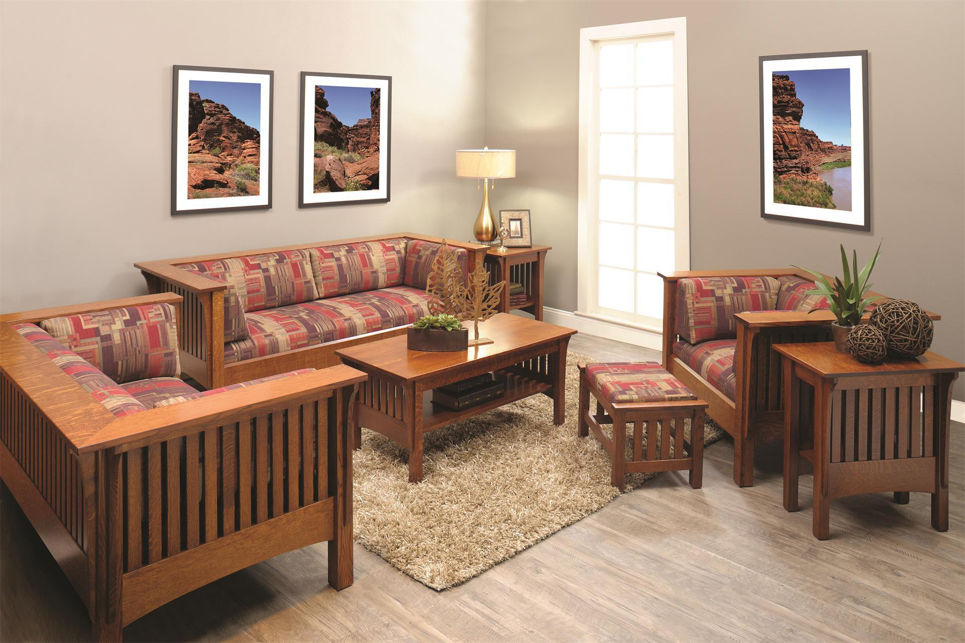 mission style living room set shop the look mission prairie living room set 20817
