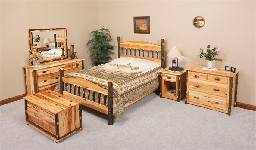 Shop The Look U003e Rustic Hickory Wagon Wheel Bedroom Set