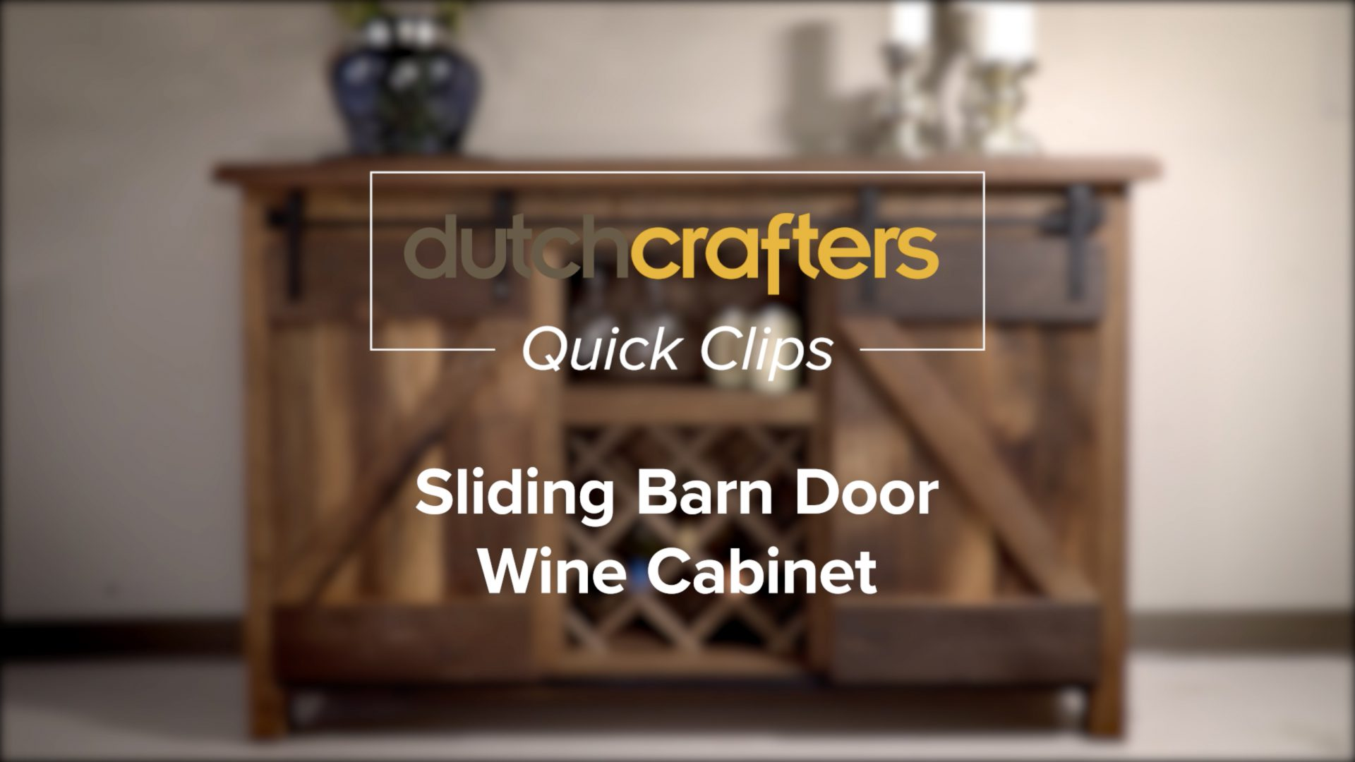 barn door wine cabinet title