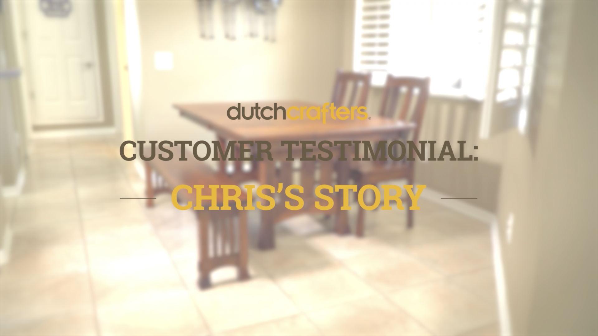 Chris Testimonial Dining Set