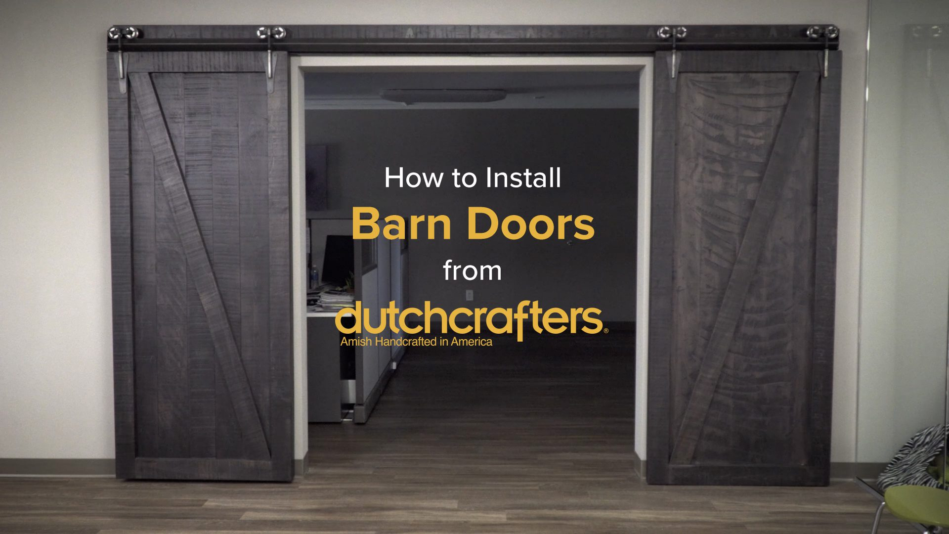 How To Install Interior Sliding Barn Doors Dutchcrafters Videos