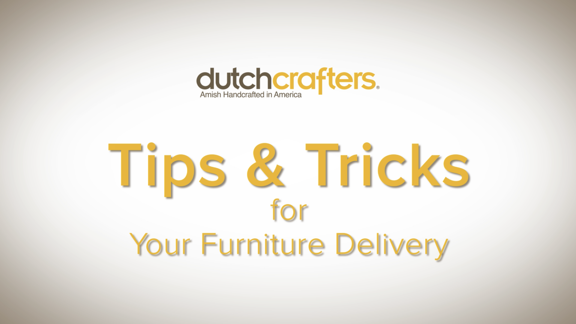 Furniture Delivery Tips Video Title