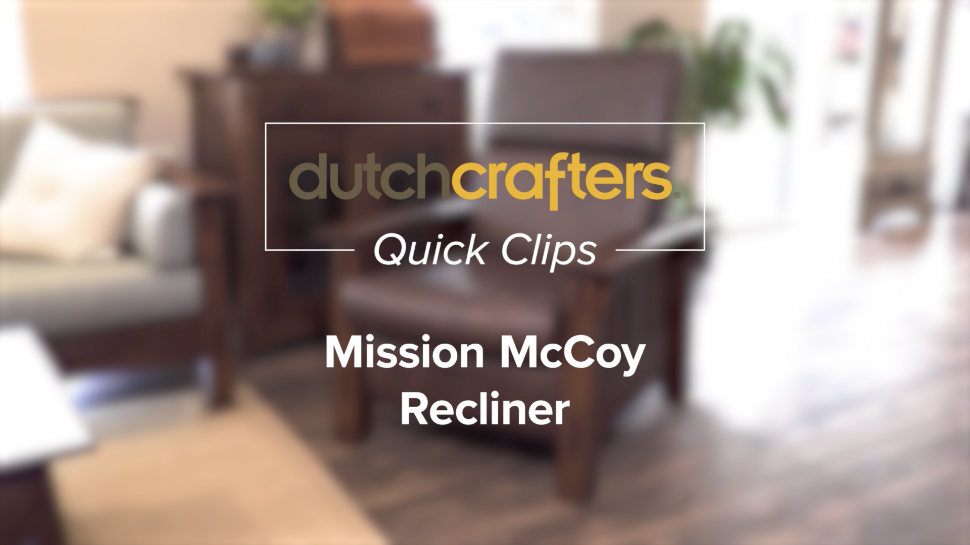 Mission McCoy Power Recliner Title Screen