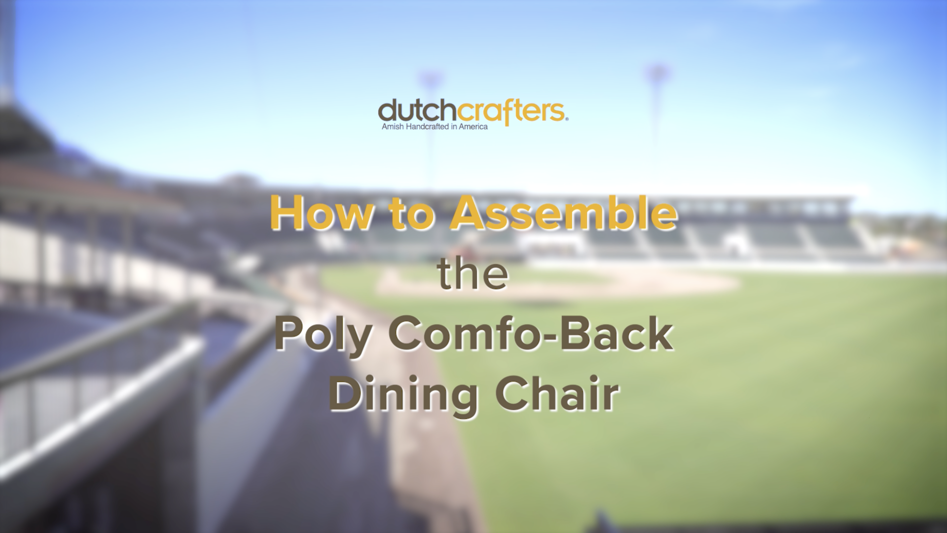 How to Assemble the Comfo-Back Poly Dining Chair Title Screen