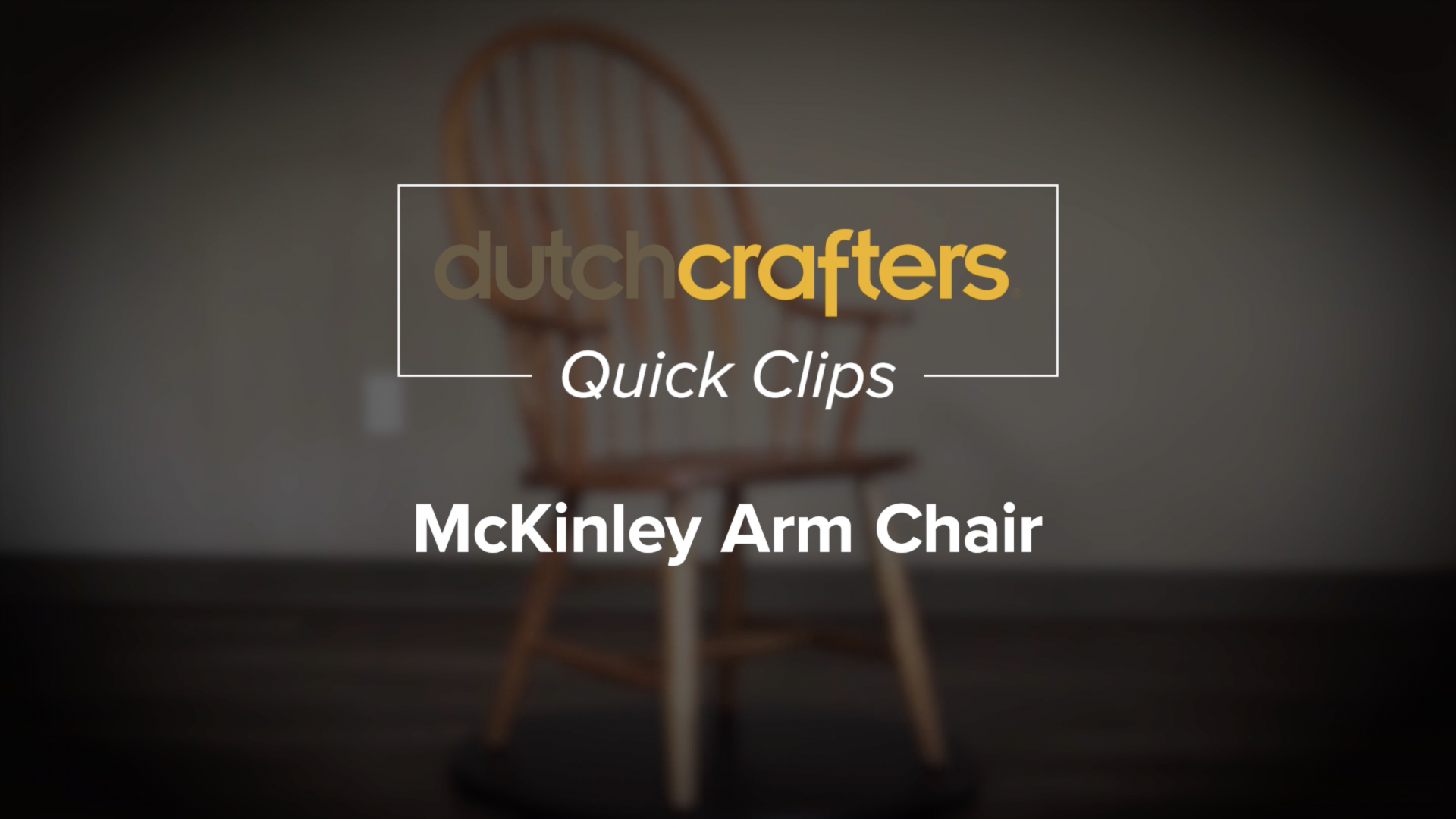 McKinley Dining Arm Chair Video Title