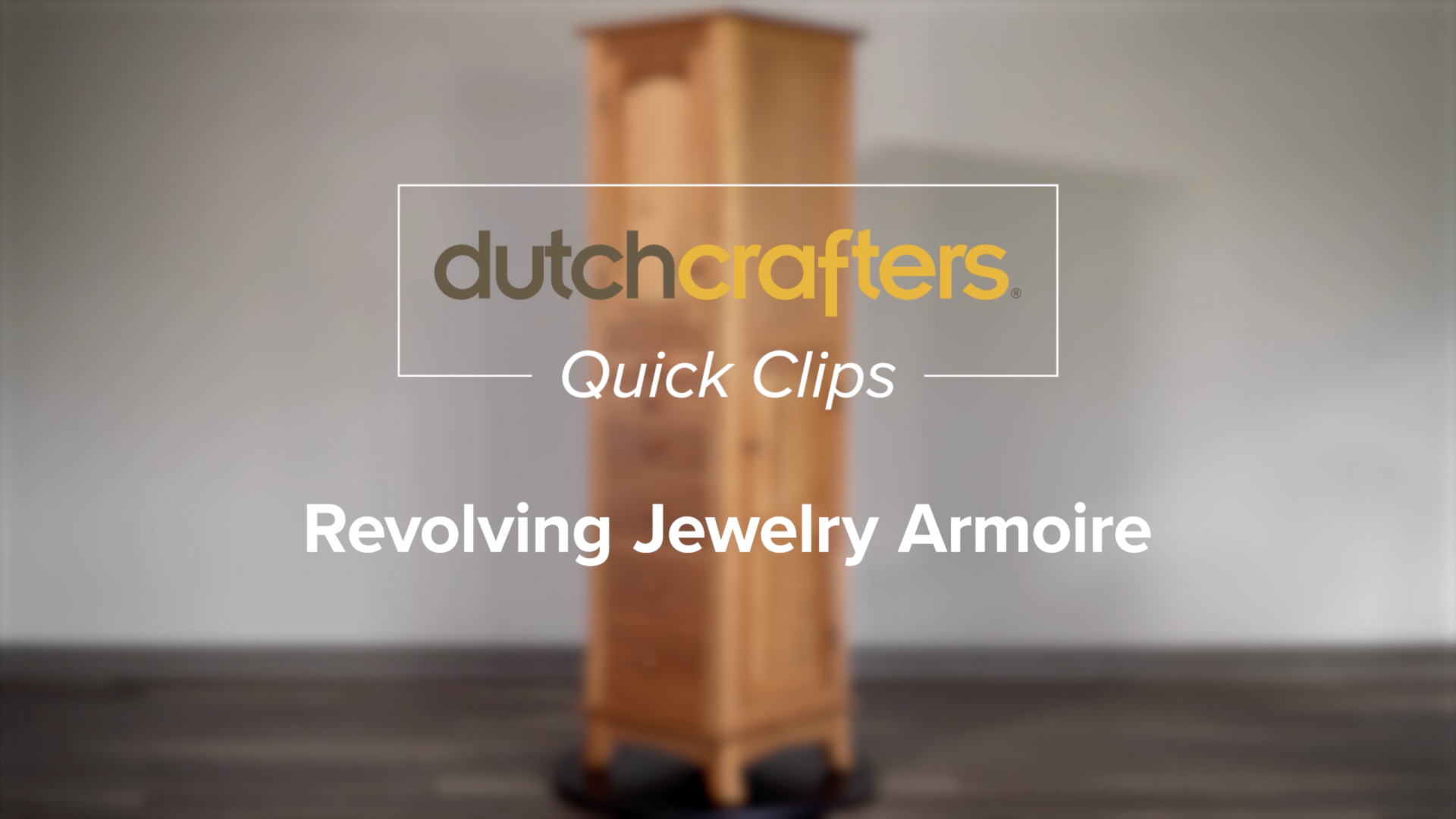 10-Drawer Revolving Jewelry Armoire Video Title Screen
