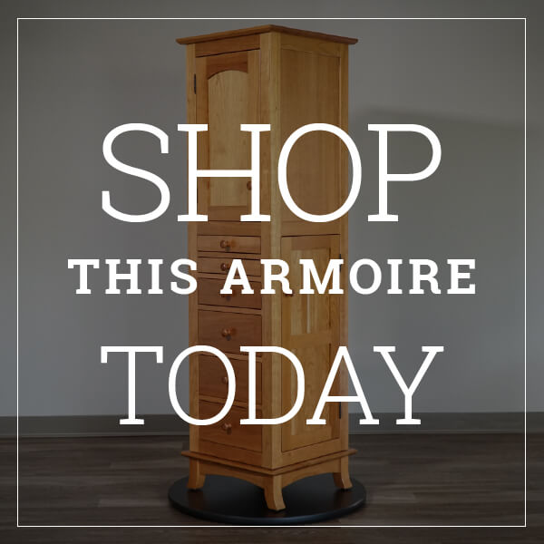 Shop this revolving jewelry armoire today