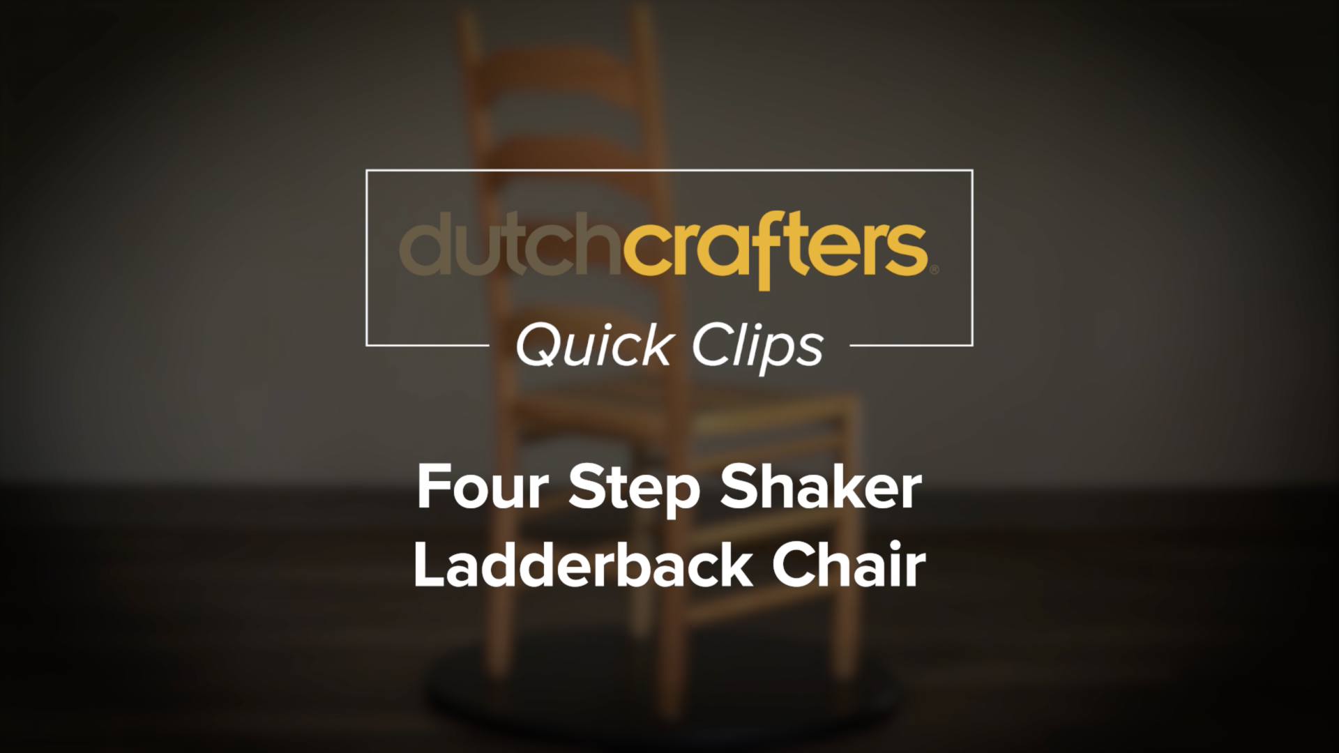 Four Step Shaker Ladderback Chair Thumbnail Image