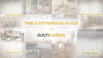Dining Extension Tables Video Guide from the DutchCrafters Learning Center