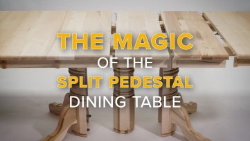 Stop Motion Animation Split Pedestal Table Assembly and Features Video